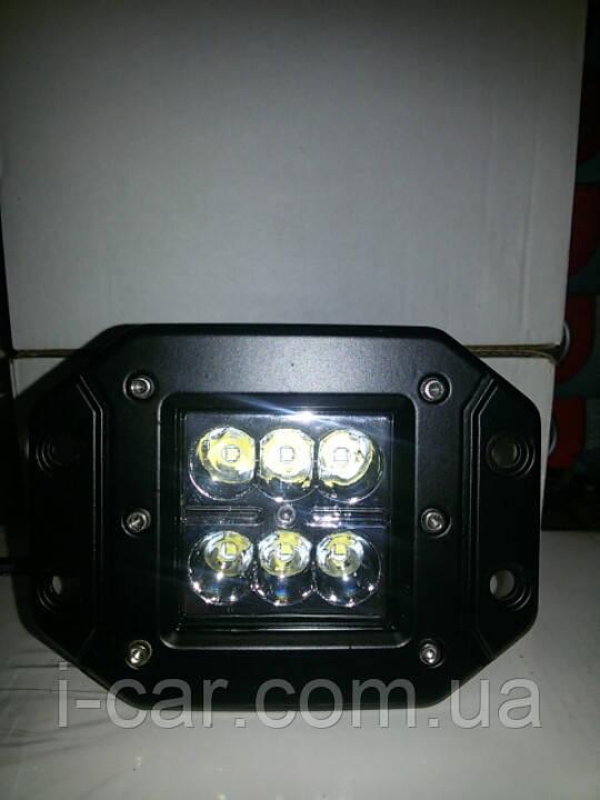 Світлодіодні фари 18W 15-18 дальнє і ближнє світло