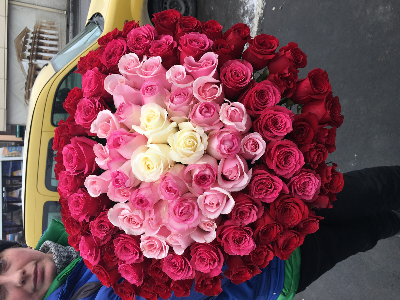 "Букет 101 Роза ""Радуга"""
