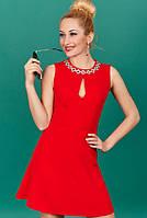 Красивое модное платье для настоящих модниц красное