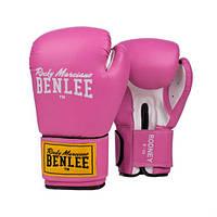 Боксёрские перчатки BENLEE Rodney 12 ун. (розовый/белый)
