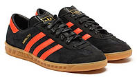 Кроссовки Adidas Hamburg (Core Black/Collegiate Orange), фото 1