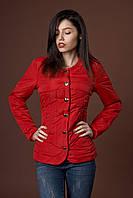 Женская молодежная демисезонная куртка. Код модели К-88-37-17. Цвет красный.