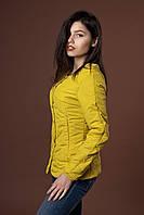Женская молодежная демисезонная куртка. Код модели К-88-37-17. Цвет горчица.