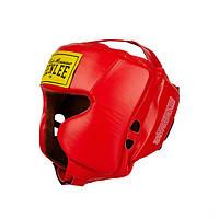 Кожаный боксерский шлем TYSON Красный