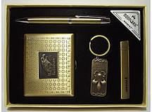Подарунковий набір MOONGRASS: ручка + брелок + запальничка + портсигар