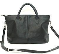 Женская кожаная сумка Черная 23HF