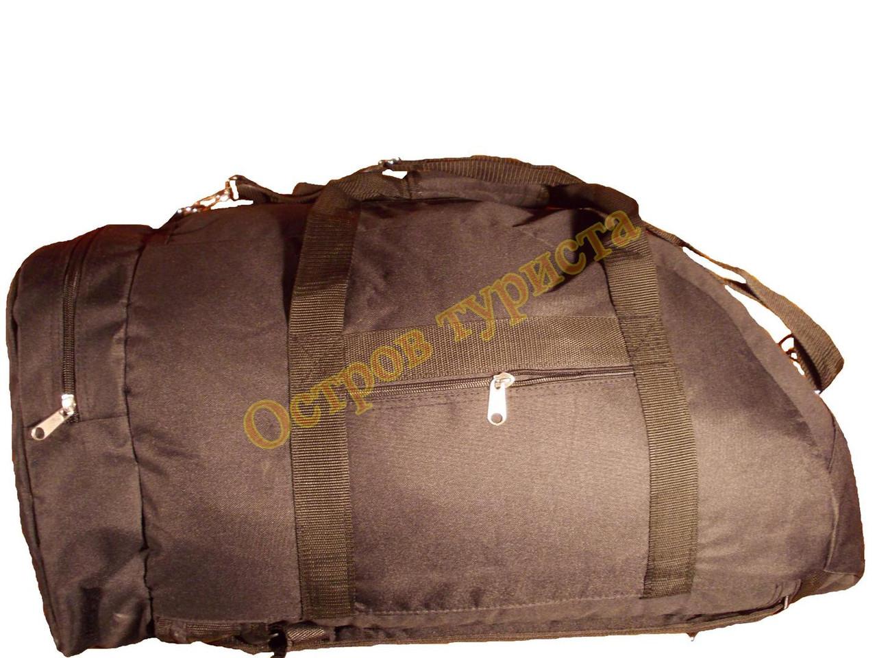 Сумка рюкзак 1233 военная 70 литров черная
