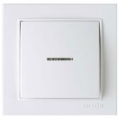 NILSON THOR Выключатель с подсветкой белый