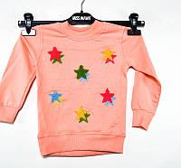 Батник оптом для девочек 3-4-5-6-7 лет звездочка