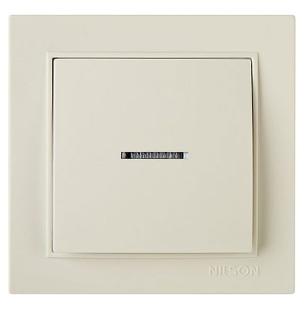 NILSON THOR Выключатель с подсветкой кремовый
