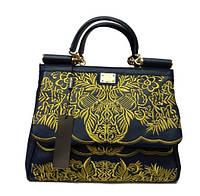 Сумка Dolce&Gabbana копия с вышивкой