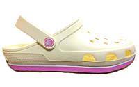Женские кроксы Crocs Duet Sport Clog белые/розовые