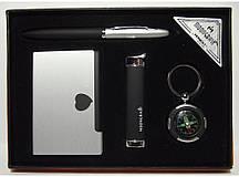 Подарунковий набір MOONGRASS: ручка + брелок + візитниця + запальничка