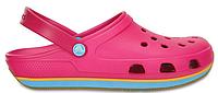 Женские кроксы Crocs Duet Sport Clog Pink розовые