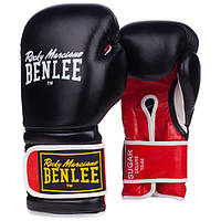 Кожаные боксерские перчатки Sugar Deluxe 10ун. Черный/Красный