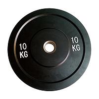 Бамперный диск для штанги 10 кг Rising Bamper Plate для кроссфита, амортизирует удар при падения штанги на пол