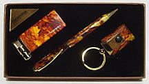 Подарунковий набір NOBILIS: запальничка+ ручка + брелок ліхтарик