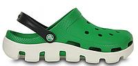 Женские кроксы Crocs Duet Sport Clog зеленые/белые