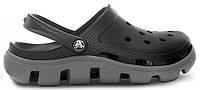 Женские кроксы Crocs Duet Sport Clog черные/серые