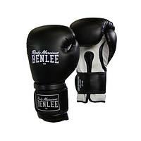 Кожаные боксерские перчатки MADISON DELUXE 10 ун. Черный/Белый