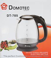 Стеклянный электрический чайник Domotec DT-705 с LED подсветкой, фото 1