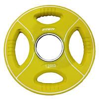 Профессиональные диски для штанги 1.25 кг Stein TPU Color Plate цветной полиуретановый