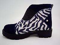 Весенние ботиночки с принтом зебры