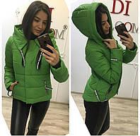 Демисезонная женская куртка зеленая
