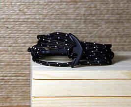 Браслет на шнуре с якорем (040402A)