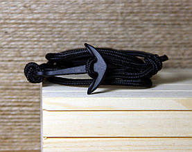 Браслет на шнуре с якорем (040403A)