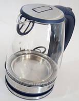 Стеклянный электрический чайник Domoteс MS-8111 с LED подсветкой, фото 1