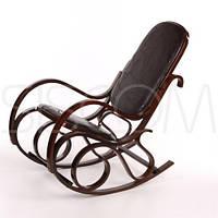 Кресло качалка кожаное