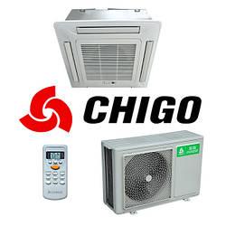 Кассетный кондиционер Chigo CCB-12HR1/COU-12HR1 LAK