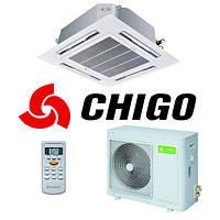Кассетный кондиционер Chigo CCA-24HR1/COU-24HR1