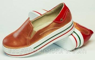 742f3a308 Слипоны для девочки из натуральной кожи, детская и подростковая обувь от  производителя модель ДЖ-