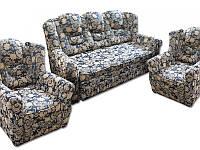 """Комплект элегантной мягкой мебели, раскладка Дельфин, миролат, седафлекс с двумя креслами """"Князь"""""""