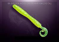 """Съедобный силикон Crazy Fish ACTIVE SLUG 4"""" зелёная кислота"""