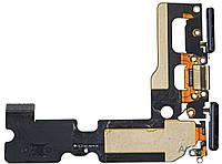 Шлейф для Apple iPhone 7 Plus с разъемом зарядки, гарнитуры и микрофоном Black