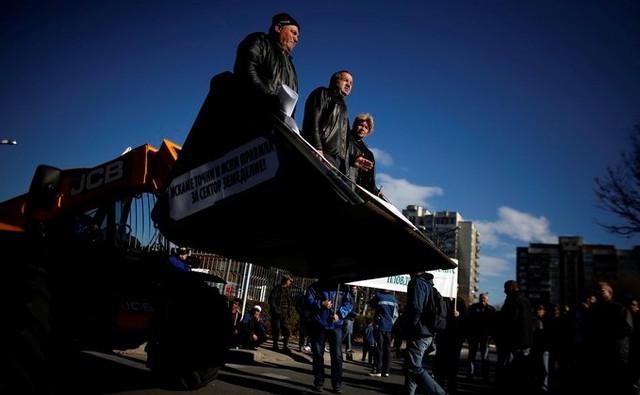 Болгарские фермеры вышли на протест