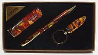 Подарочный набор NOBILIS: зажигалка+ ручка + брелок фонарик