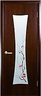 Дверь МОДЕРН ЧАСЫ  экошпон, венге 3D, дуб жемчужный, кедр, сандал, ясень патна ( стекло сатин рис. Р1)