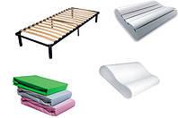 Аксессуары для сна. Наматрасники, подушки, каркасы, подиумы.