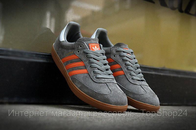 """Кроссовки Adidas Samba """"Grey/Orange"""""""