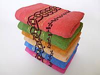Махровое лицевое полотенце 100х50см (кольца)