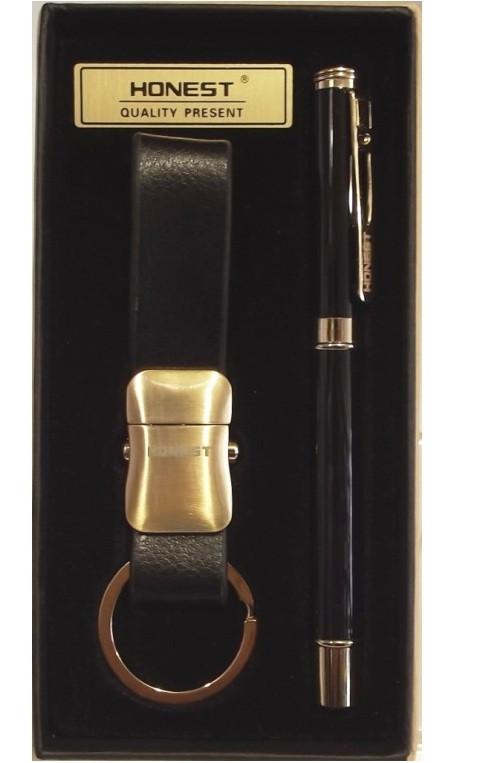 Подарочный набор HONEST: ручка + брелок