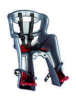 Сиденье пер. Bellelli Tatoo Sportfix до 15кг, серебристое с красной подкладкой