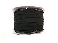 Резинка бельевая, цвет черный, ширина 8мм/48м в бобине