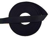 Лента репсовая, цвет ченый , ширина 2.5см (48м в рулоне)