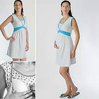 Ночная рубашка Сердечки для беременных и кормления