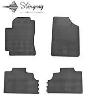 Коврики резиновые в салон Geely CK-2  2008- Комплект из 4-х ковриков Черный в салон